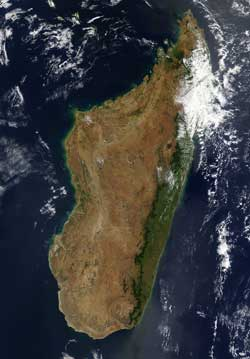 Moderate Resolution Imaging Spectroradiometer (MODIS) image of Madagascar