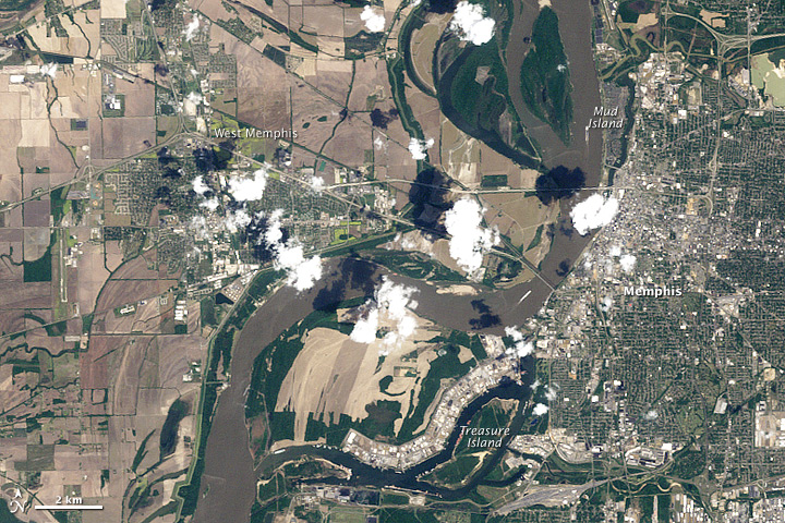 satellite image of Memphis