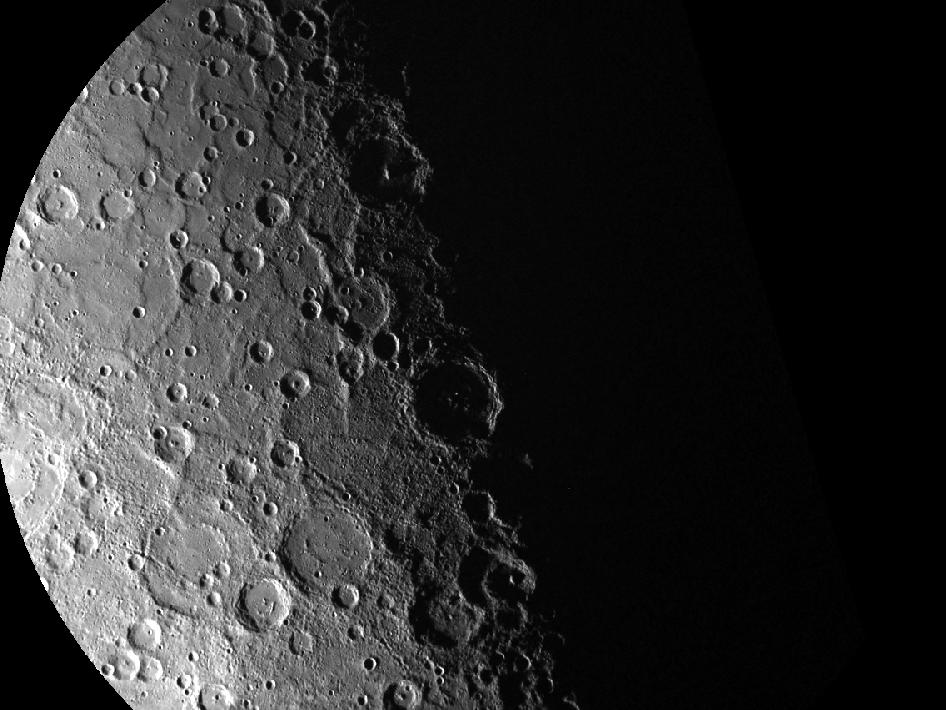 Image from Orbit of Mercury: South Pole, Take 15