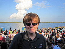 Kristen Edwards at the launch of STS-133