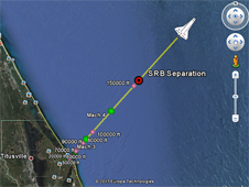 Google Earth space shuttle short ascent preview