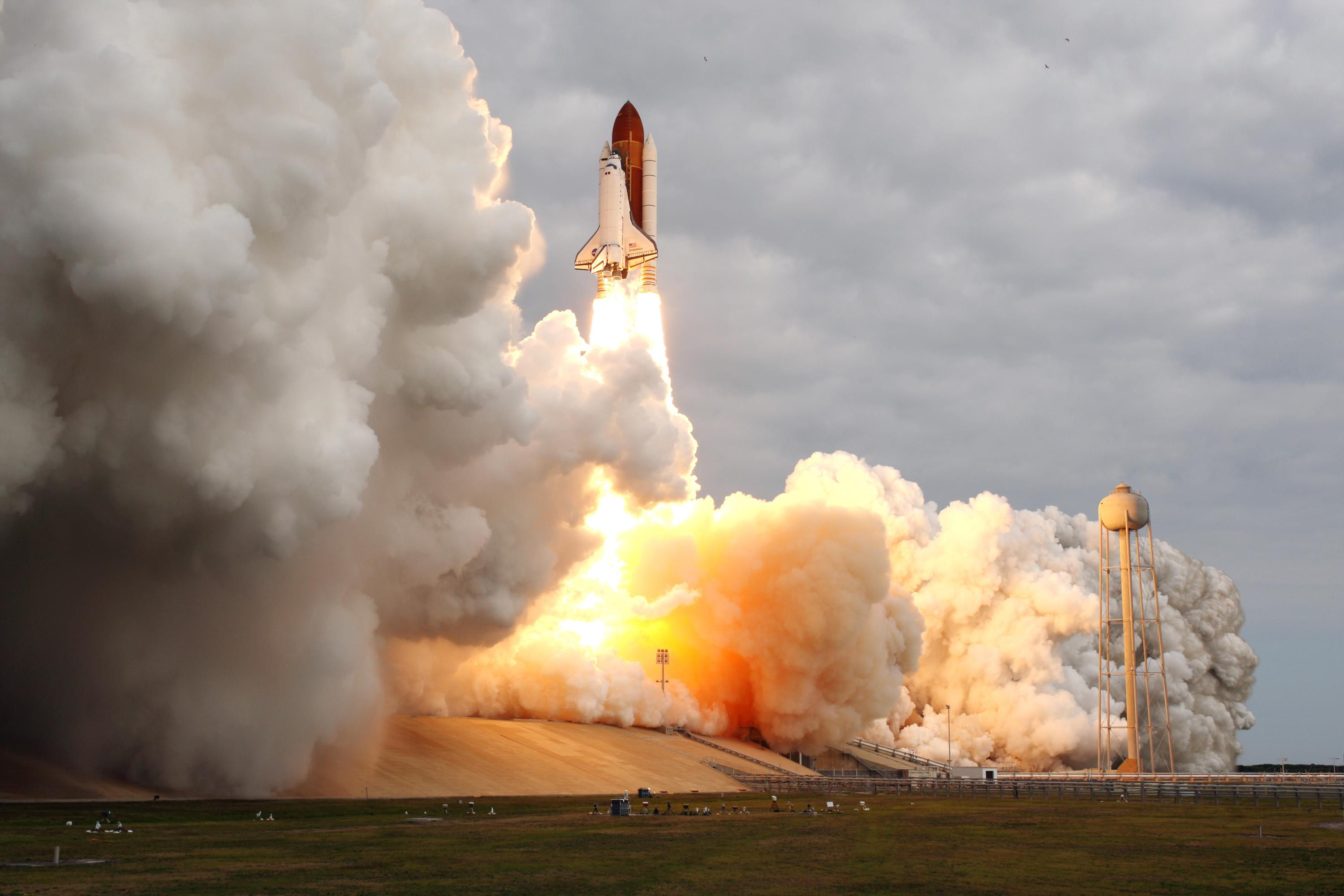 STS-134 Shuttle Mission Lifts Off