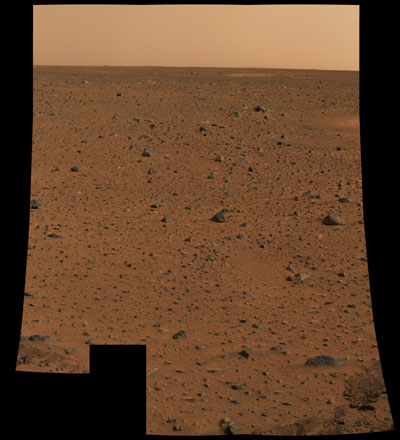 First full resolution image from Mars Exploration Rover Spirit panoramic camera, or pan cam