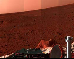 Panorama of Mars landscape