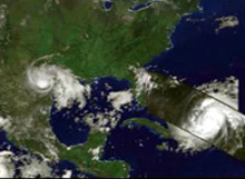 Satellite image of Hurricane Bonnie