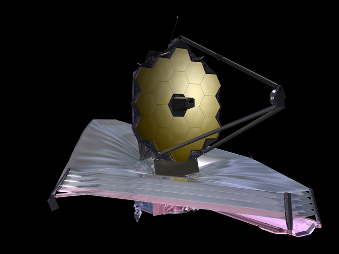 September 2009 artist conception of Webb telescope.