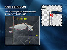 STS-134 Tile Damage Sites