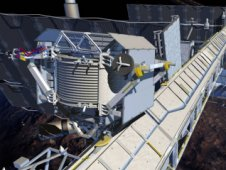 Artist concept of Alpha Magnetic Spectrometer on the International Space Station National Laboratory