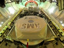 AMS 02 Ready for Launch in Endeavour Payload Bay, April 2011.