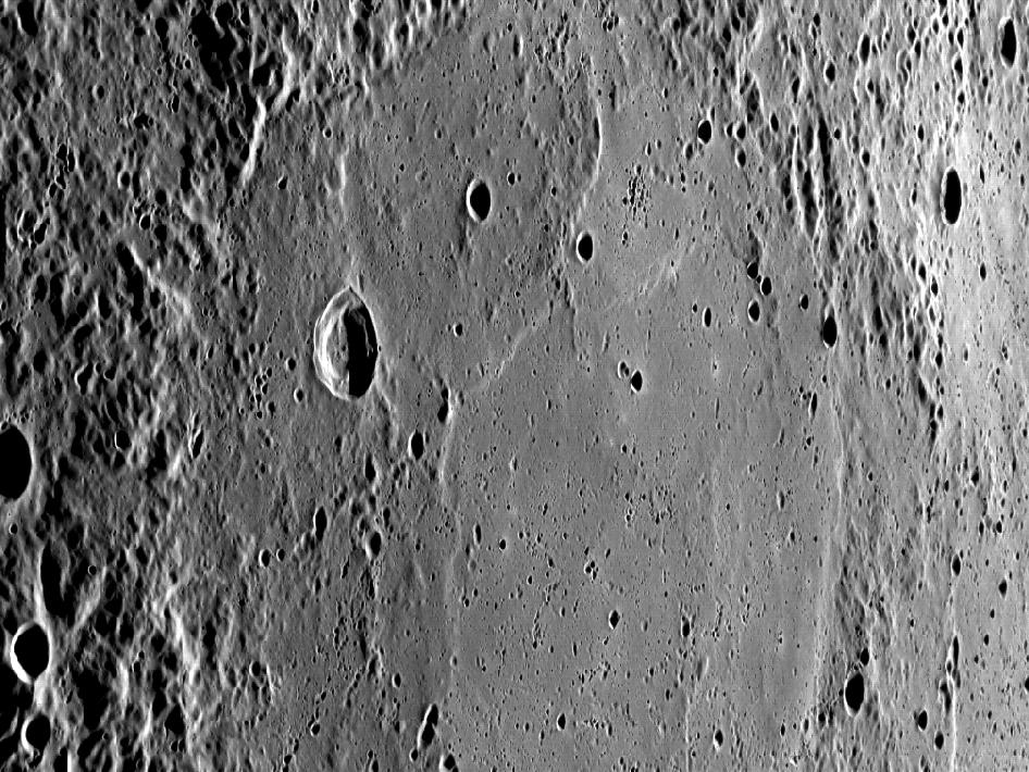 Image from Orbit of Mercury: Basins Everywhere