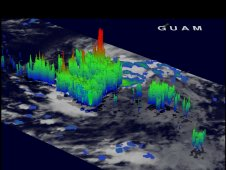 TRMM 3-D image from May 19 showing powerful thunderstorms with heights of almost 17 km (~10.6 miles).