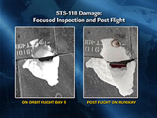 STS-118 Damage: Focused Inspection and Post Flight