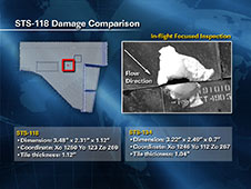 STS-118 Damage Comparison