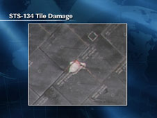 STS-134 Tile Damage
