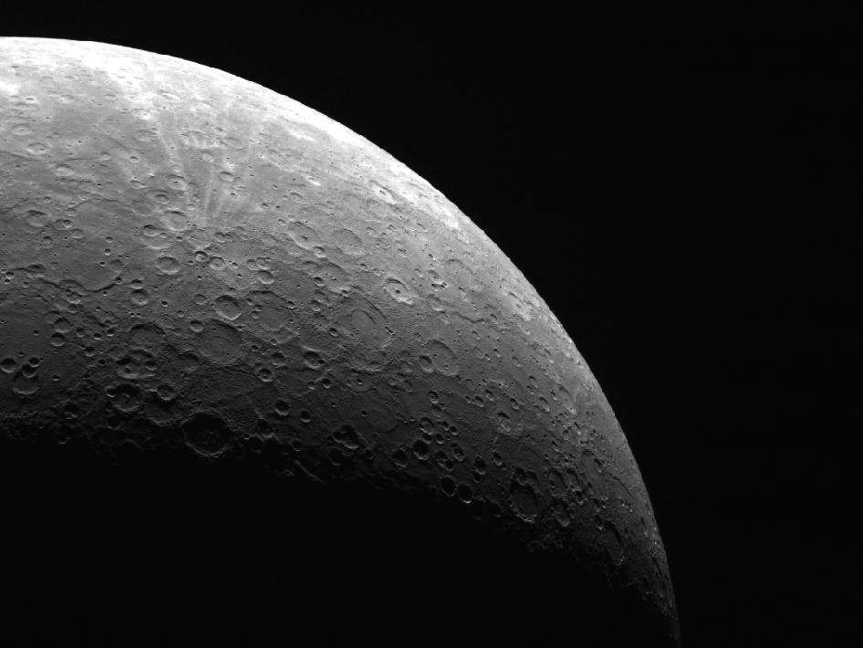 mage from Orbit of Mercury: Looking up from the South