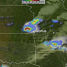 May 22 image of the storms that spawned the Joplin tornado