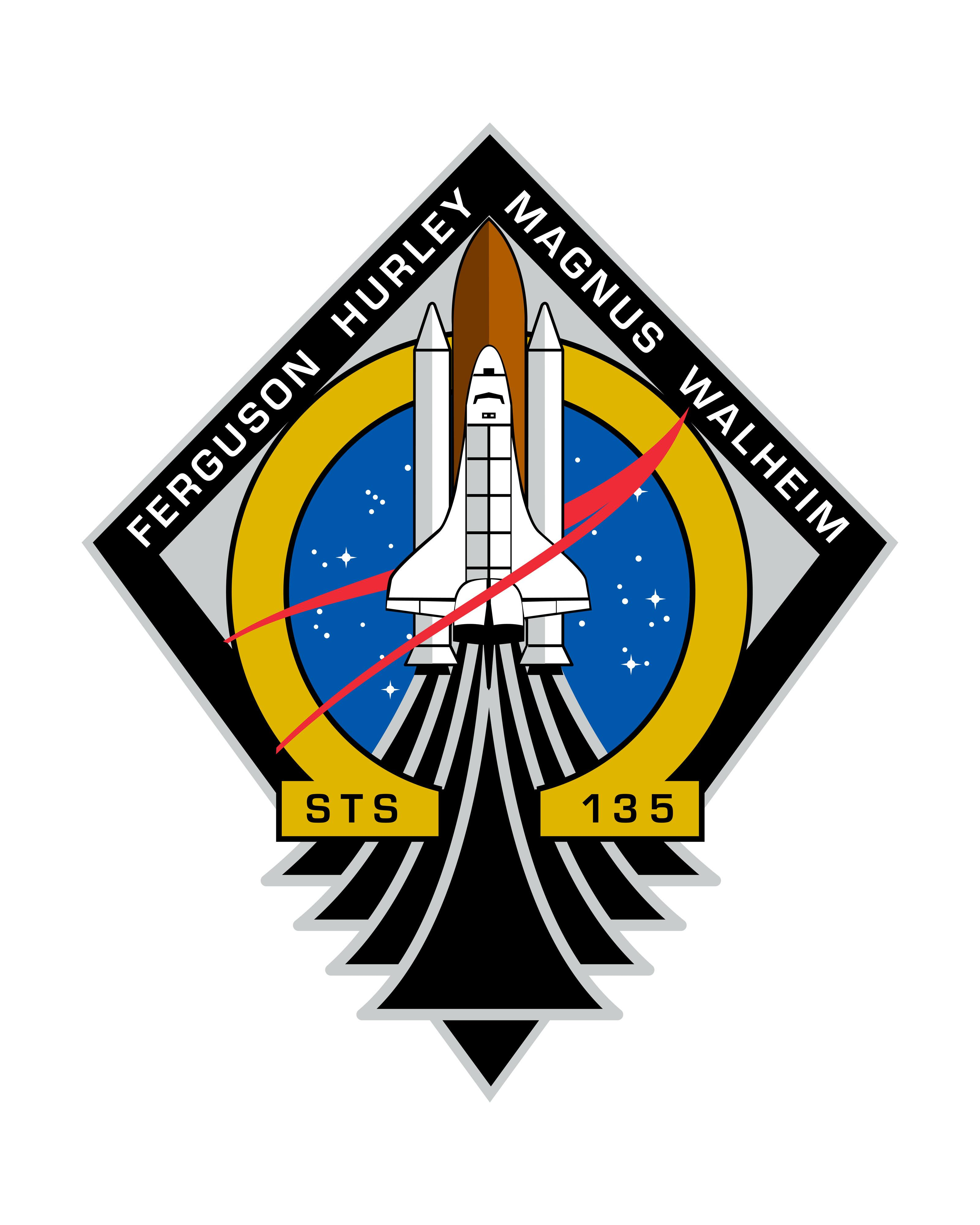 Mission Patches On Mission 4 To The International Space: STS-135 Mission Patch