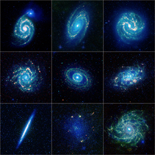 Collection of galaxy specimens has been released by NASA's Wide-field Infrared Survey Explorer, or WISE, mission