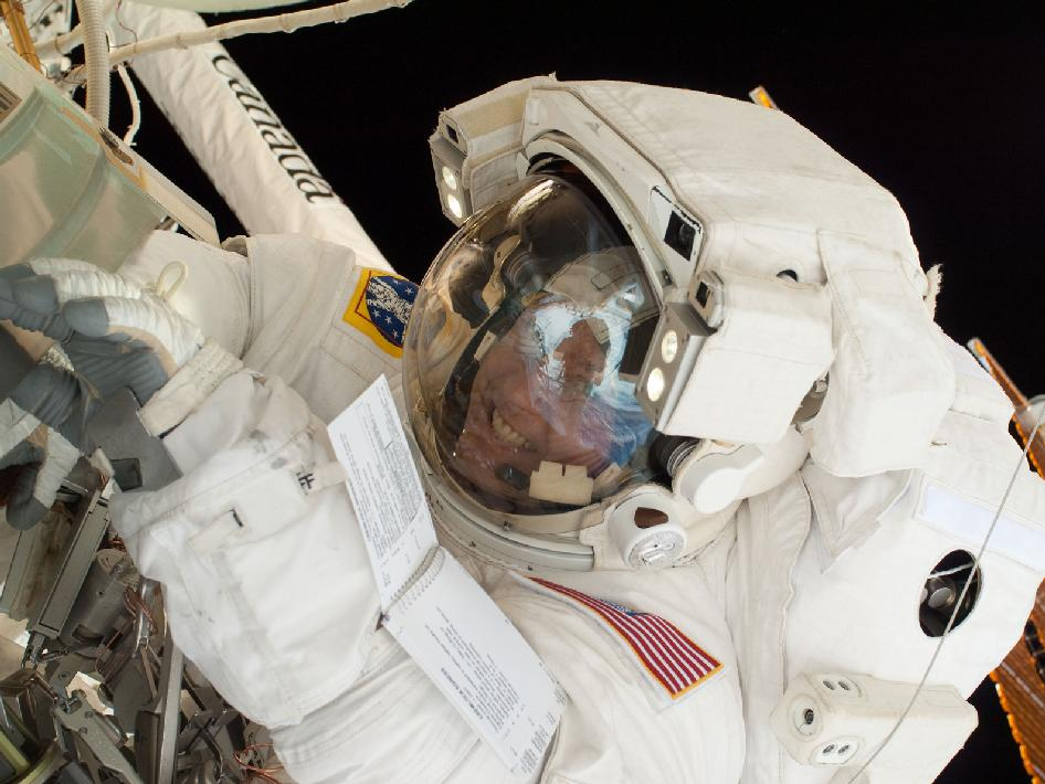 NASA astronaut Michael Fincke during the STS-134 mission's third spacewalk