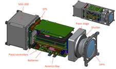 Schematic of the MIT planet-finding CubeSat.