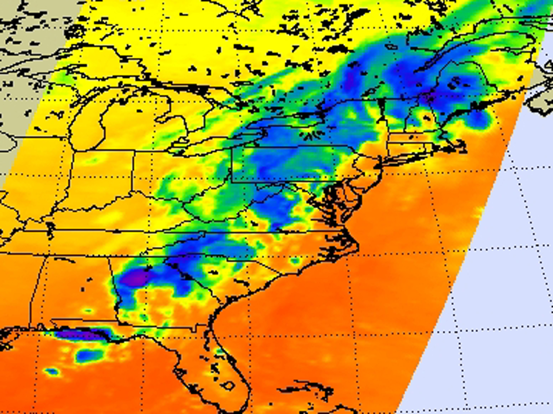 NASA - NASA Infrared Satellite Sees Severe Weather in NW Georgia