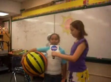 Fifth-graders produce a video about NASA technology