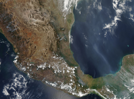 The widespread fires shown here are evidence of the extreme fire season 2011