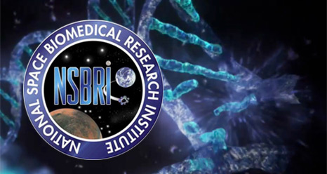 National Space Biomedical Research Institute logo on background image of DNA