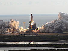 Endeavour launches on the STS-134 mission