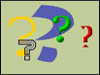 Cartoon image of question marks