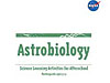 Astrobiology written in large green letters