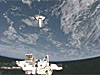 View of space shuttle from the International Space Station