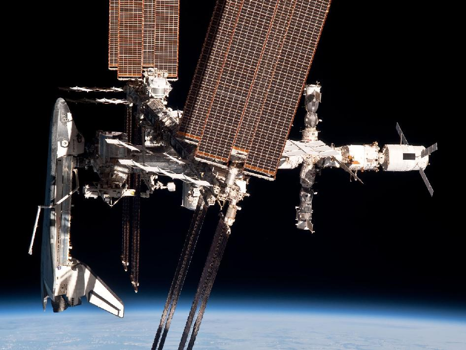 The International Space Station and the Docked Space Shuttle Endeavour
