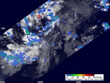 NASA's TRMM satellite captured the rainfall occurring in Tropical Depression 1E  on June 7 at 0727 UTC (3:27 a.m. EDT).
