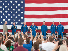 Endeavour crew is honored after end of STS-134 mission