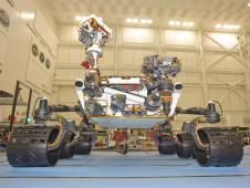 Front view of Mars rover Curiosity,