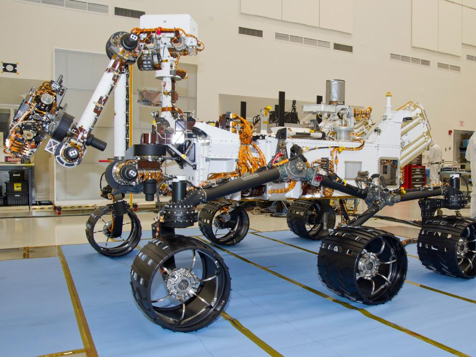 photograph of the NASA Mars Science Laboratory rover