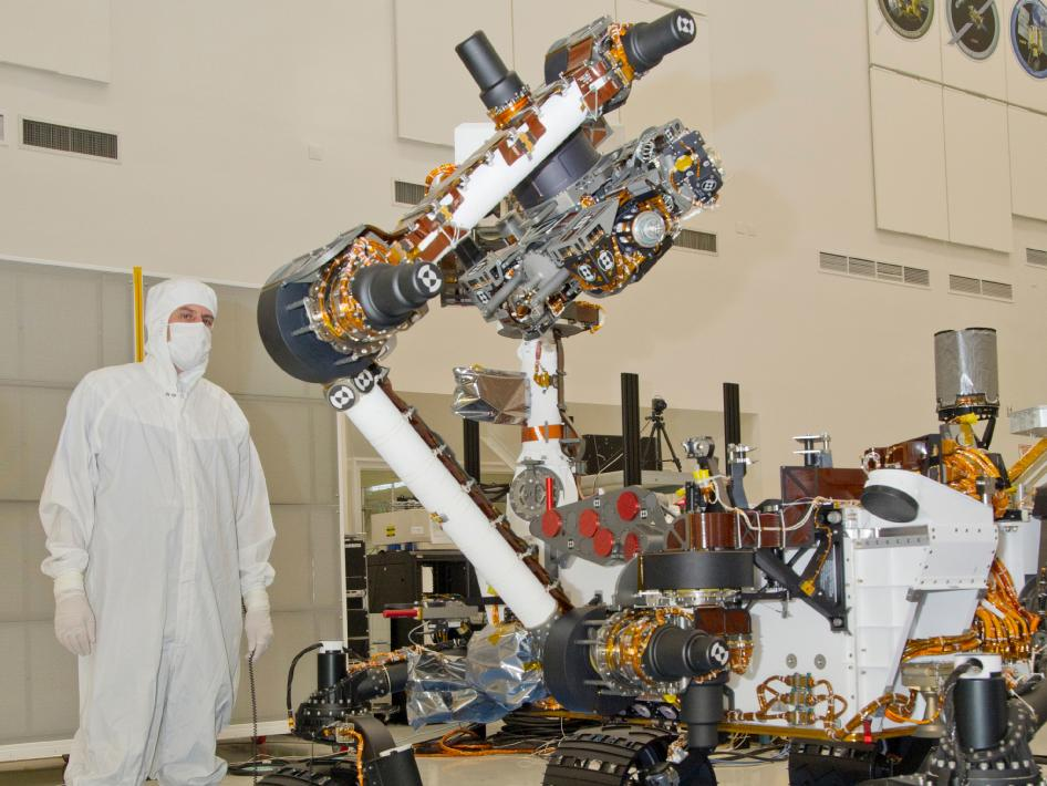 photograph of the NASA Mars Science Laboratory rover, Curiosity