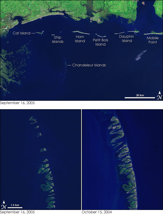 the Chandeleur Islands