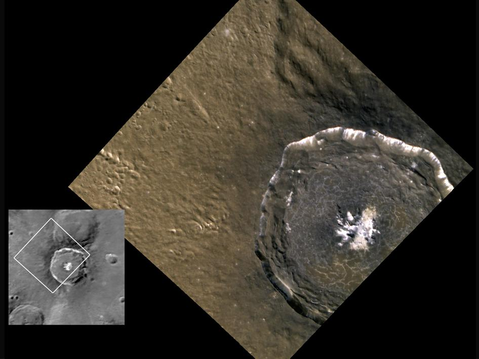 Image from News Conference 06.16.2011: Targeted color imaging: Degas crater