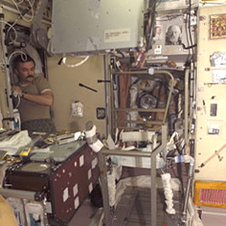 There are more than 8,000 items to track onboard the International Space Station.