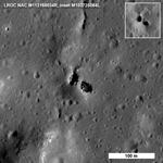 image of a natural bridge on the moon