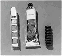 Early Project Mercury flight food in tubes