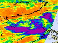 AIRS captured this infrared image of 06W on June 20 at 18:05 UTC when it was still a tropical storm.