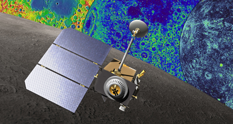 LRO topographical maps and conceptual image of LRO