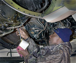 B-52H receives maintenance