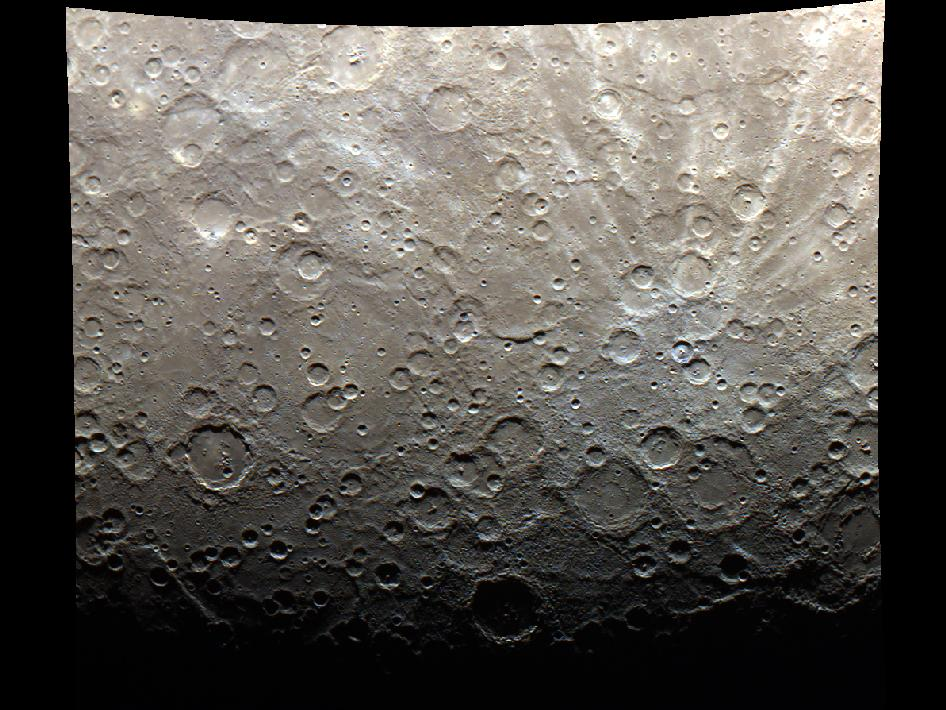 Image from Orbit of Mercury: The Terminator is Here - in Color!