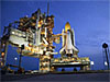 Space shuttle Atlantis sits on the launch pad