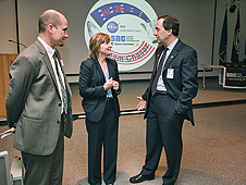 Langley Director Lesa Roe (center) at HL-20 event