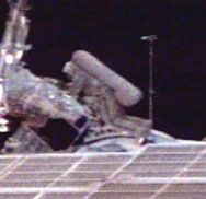 Michael Foale during spacewalk